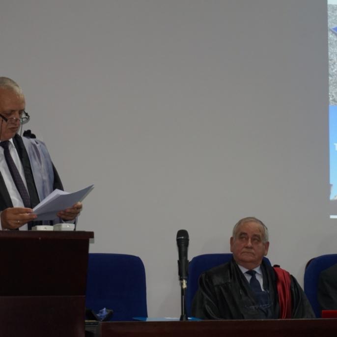 Laudatio durch den Dekan der Fakultät für Geodäsie Prof. Dr. Gheorghe Badea
